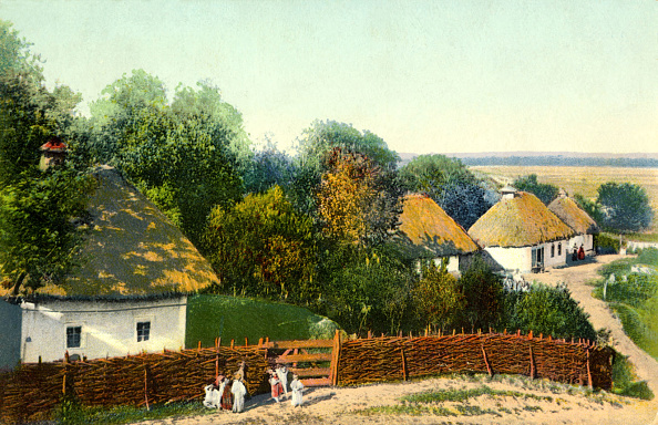 Generic - Description「Ukrainian village with thatched houses.」:写真・画像(14)[壁紙.com]