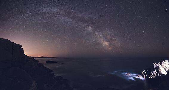 天の川「Galaxy は、海の上」:スマホ壁紙(11)