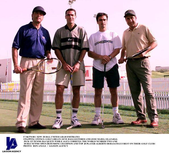 アレックス コレチャ「Swapping Swings: Golf Greats Seve Balllesteros And Jose Maria Olazabal Pick Up Tennis Racquets」:写真・画像(17)[壁紙.com]