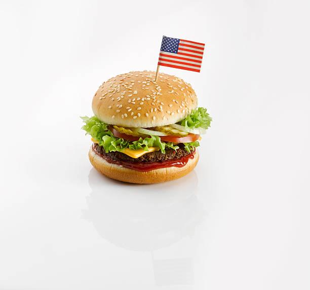 Burger with American flag:スマホ壁紙(壁紙.com)