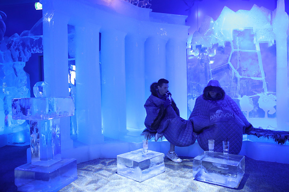 Ice Sculpture「People And Animals Cool Off From Heat Wave」:写真・画像(7)[壁紙.com]