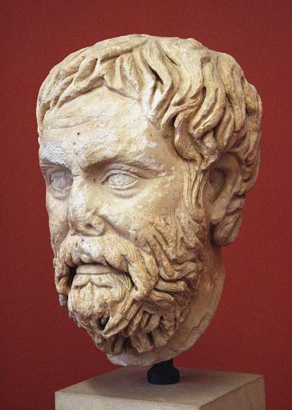 Sculpture「Head Of Pyrrho Of Elis Roman Copy From A Greek Original」:写真・画像(0)[壁紙.com]