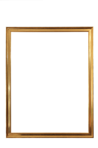 Picture Frame「golden emty frame CLIPPING PATH」:スマホ壁紙(3)