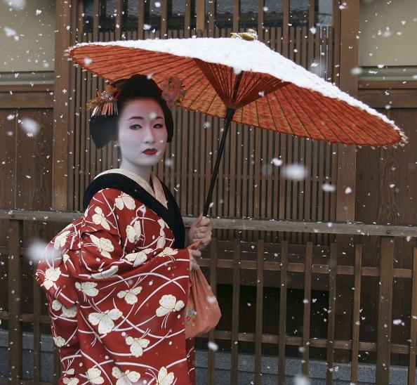 舞妓「Maiko and Geisha Attend New Year's Ceremony」:写真・画像(5)[壁紙.com]