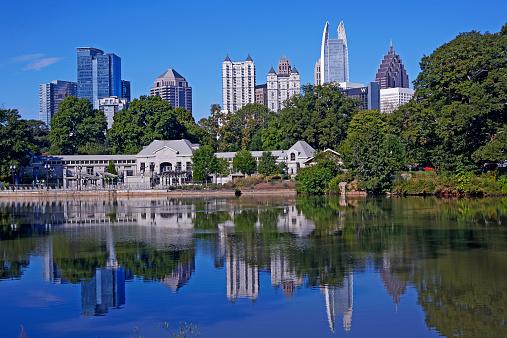 Public Park「Cityscape of Midtown Atlanta from Piedmont Park」:スマホ壁紙(7)