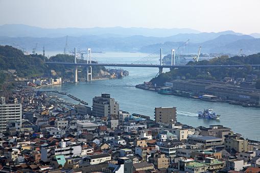 Japan「Cityscape of Onomichi, Hiroshima, Japan」:スマホ壁紙(10)