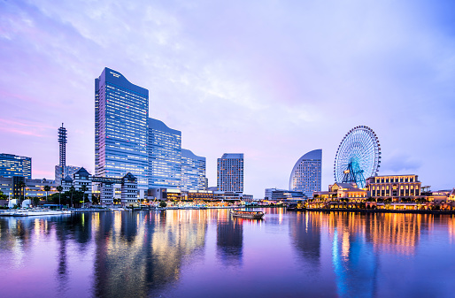 Yokohama「Cityscape of Yokohama MinatoMirai in Yokohama City, Kanagawa Prefecture, Japan」:スマホ壁紙(15)