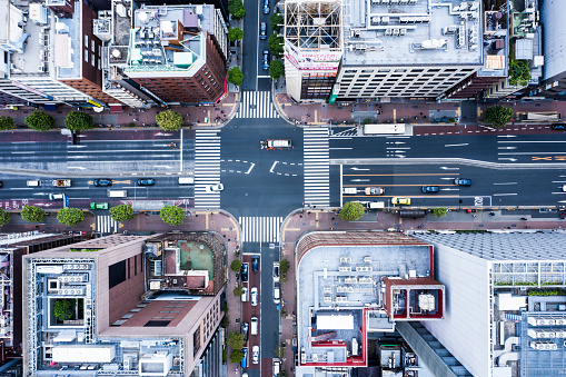 Tokyo - Japan「Cityscape of Tokyo and huge sky」:スマホ壁紙(1)