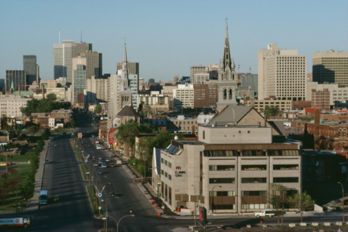 Boulevard「Cityscape of Montreal, Quebec, Canada」:スマホ壁紙(11)