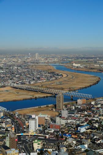 鉄道・列車「Cityscape of Ichikawa city, Chiba Prefecture, Honshu, Japan」:スマホ壁紙(14)