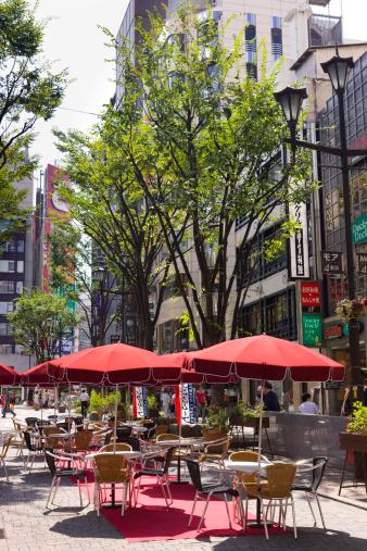 Sidewalk Cafe「Cityscape of Kabukicho, Shinjuku Ward, Tokyo Prefecture, Honshu, Japan」:スマホ壁紙(11)