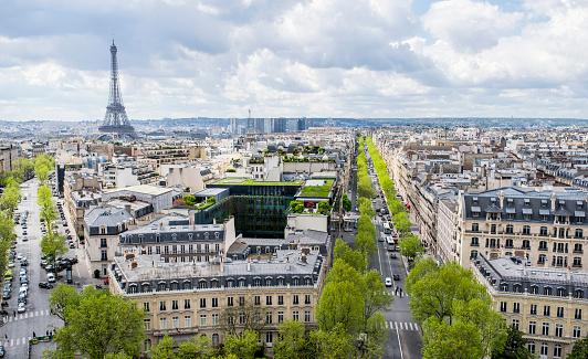Arc de Triomphe - Paris「Cityscape of Paris with Eiffel Tower」:スマホ壁紙(17)