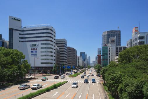 Japan「Cityscape of Nagoya city, Aichi Prefecture, Japan」:スマホ壁紙(10)