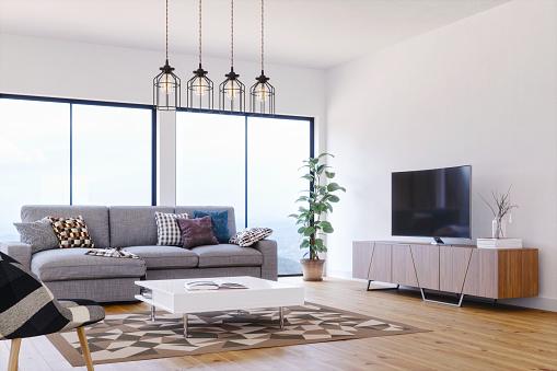 Clean「Modern, Bright And Airy Scandinavian Design Living Room」:スマホ壁紙(11)