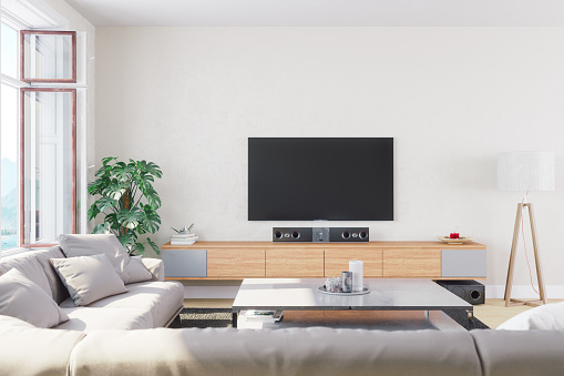 Television Set「Modern, Bright And Airy Living Room」:スマホ壁紙(1)