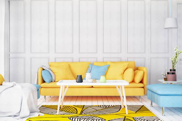 Modern Bright Living Room with Sofa:スマホ壁紙(壁紙.com)