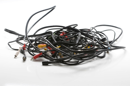 Audio Equipment「Pile of cables」:スマホ壁紙(2)