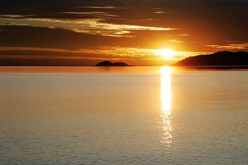 Lake Huron「colorful lake sunset」:スマホ壁紙(17)