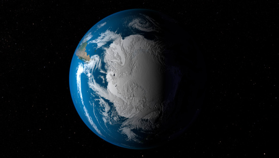 Solar System「Ful Earth showing simulated clouds over Antarctica.」:スマホ壁紙(4)