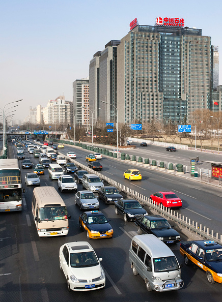 Full Frame「Heavy traffic on central Beijing highway 2009」:写真・画像(14)[壁紙.com]