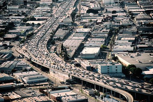Elevated Road「Heavy Traffic on California Freeway」:スマホ壁紙(8)