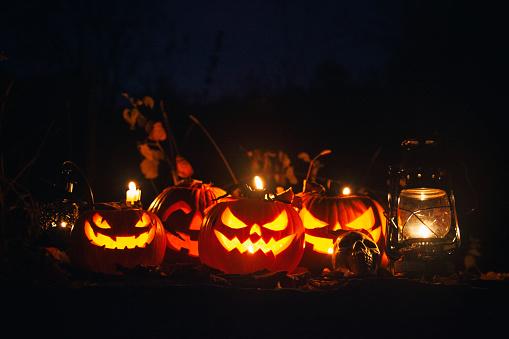 Halloween party「Halloween Jack-o-Lantern Pumpkins」:スマホ壁紙(13)