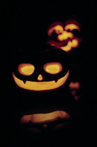 Cartoon「Halloween Jack o' lanterns」:スマホ壁紙(2)