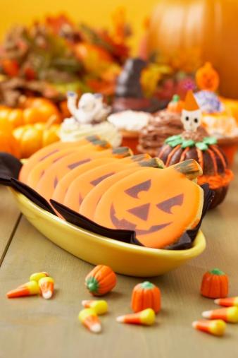 ハロウィン「Halloween jack-o-lantern cookies」:スマホ壁紙(13)