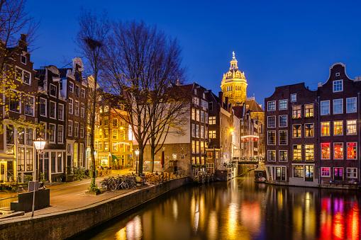 North Holland「Amsterdam at dusk」:スマホ壁紙(4)