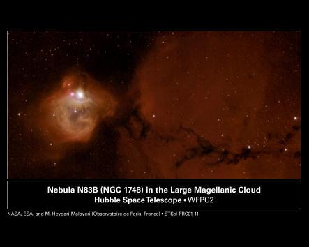 Hubble Space Telescope「Nebula N83B Element Interplay」:写真・画像(9)[壁紙.com]