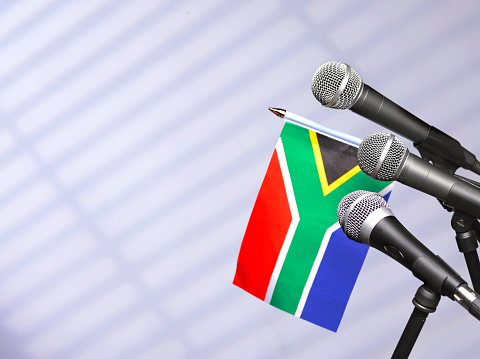Party Conference「South African flag and mics」:スマホ壁紙(13)