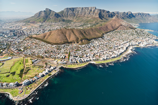 Coastal Feature「South Africa, aerial view of Cape Town」:スマホ壁紙(8)