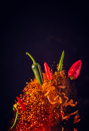 Spice「Spice Mix Food Explosion with Chili Peppers and Chili Powder」:スマホ壁紙(13)