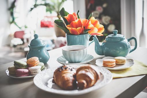 Macaroon「Sweet food and tea」:スマホ壁紙(14)