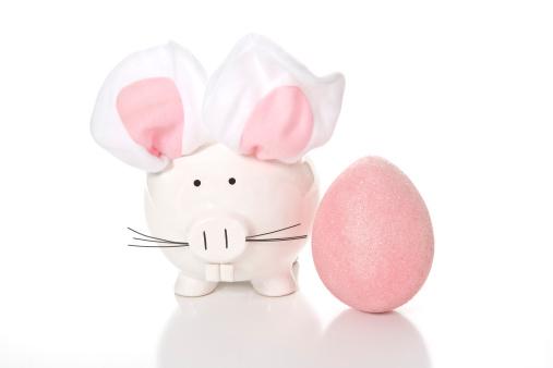 Easter Bunny「Easter Pig and Egg」:スマホ壁紙(5)