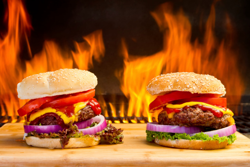 Garnish「Two Big Cheeseburgers with Pretty Flames」:スマホ壁紙(11)