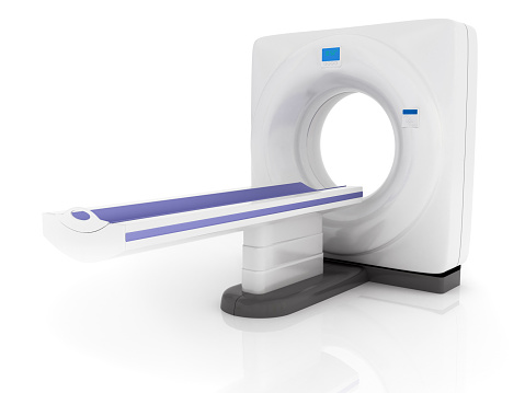 X-ray Image「CAT Scan machine against a plain white background」:スマホ壁紙(11)