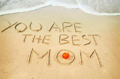 母の日「言葉で砂の母の日」:スマホ壁紙(16)