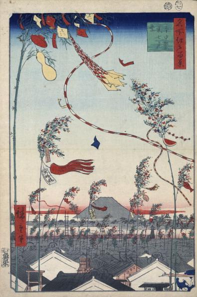 七夕「Prosperity Throughout the City during the Tanabata Festival, 1856-1858.」:写真・画像(15)[壁紙.com]