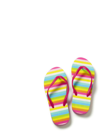 Sandal「Flip flops on white background.」:スマホ壁紙(0)