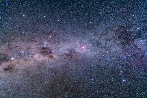 star sky「Southern Milky Way from Vela to Centaurus with Crux & Carina.」:スマホ壁紙(7)