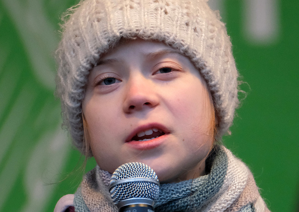 Climate Activist「Greta Thunberg Attends Climate Protest In Hamburg」:写真・画像(16)[壁紙.com]