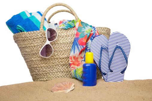 Beach Towel「Beach bag and accessories」:スマホ壁紙(10)