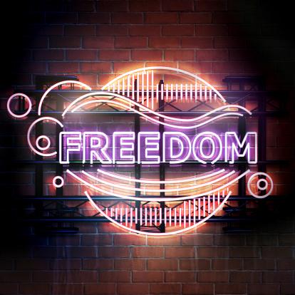 Brick Wall「Freedom」:スマホ壁紙(11)