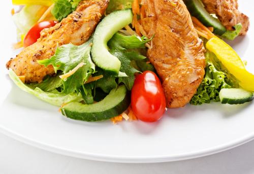 Chicken Tandoori「Fresh salad with grilled Tandoori-style chicken」:スマホ壁紙(2)