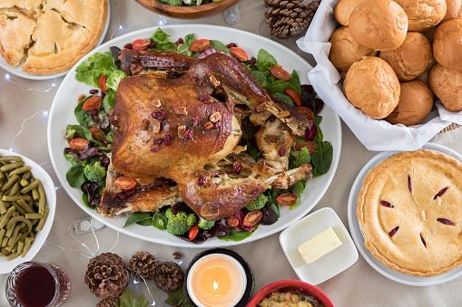 炎「クローズ アップと鳥の目準備クリスマス ディナーの食事観」:スマホ壁紙(8)