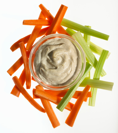 Celery「Carrot and celery sticks and bowl of hummus dip」:スマホ壁紙(11)