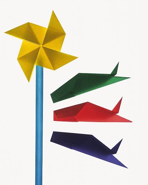 Origami Carp streamers, High Angle View:スマホ壁紙(壁紙.com)