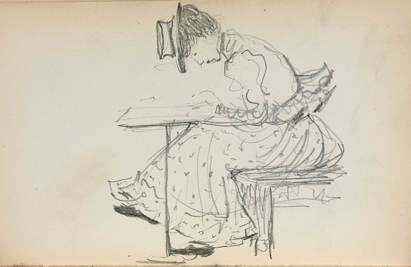 Pencil「Italian Sketchbook: Seated Woman (Page 107)」:写真・画像(9)[壁紙.com]