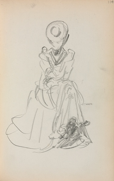 Pencil「Italian Sketchbook: Seated Woman (Page 114)」:写真・画像(13)[壁紙.com]